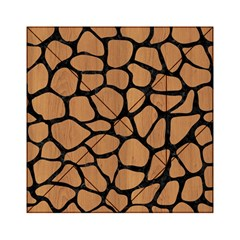 Skin1 Black Marble & Light Maple Wood Acrylic Tangram Puzzle (6  X 6 ) by trendistuff
