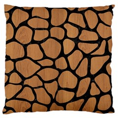 Skin1 Black Marble & Light Maple Wood Large Cushion Case (two Sides) by trendistuff