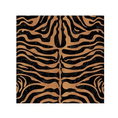 Skin2 Black Marble & Light Maple Wood Small Satin Scarf (square) by trendistuff