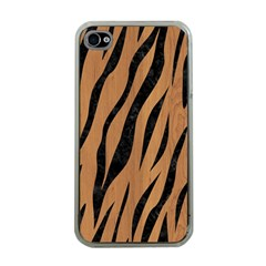 Skin3 Black Marble & Light Maple Wood (r) Apple Iphone 4 Case (clear) by trendistuff