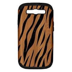 Skin3 Black Marble & Light Maple Wood (r) Samsung Galaxy S Iii Hardshell Case (pc+silicone) by trendistuff