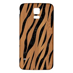 Skin3 Black Marble & Light Maple Wood (r) Samsung Galaxy S5 Back Case (white) by trendistuff