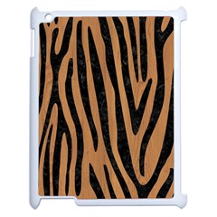 Skin4 Black Marble & Light Maple Wood Apple Ipad 2 Case (white) by trendistuff