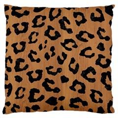 Skin5 Black Marble & Light Maple Wood Large Flano Cushion Case (one Side) by trendistuff