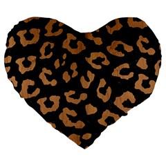 Skin5 Black Marble & Light Maple Wood (r) Large 19  Premium Flano Heart Shape Cushions by trendistuff