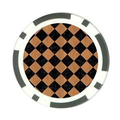 Square2 Black Marble & Light Maple Wood Poker Chip Card Guard (10 Pack) by trendistuff
