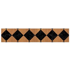 Square2 Black Marble & Light Maple Wood Flano Scarf (small) by trendistuff