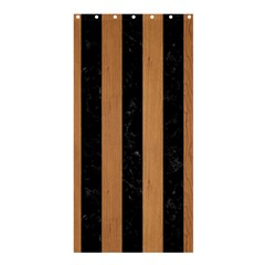 Stripes1 Black Marble & Light Maple Wood Shower Curtain 36  X 72  (stall)  by trendistuff