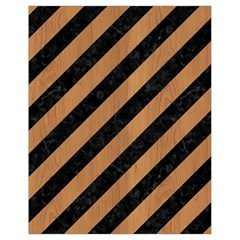 Stripes3 Black Marble & Light Maple Wood Drawstring Bag (small) by trendistuff