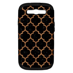 Tile1 Black Marble & Light Maple Wood Samsung Galaxy S Iii Hardshell Case (pc+silicone) by trendistuff