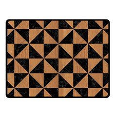 Triangle1 Black Marble & Light Maple Wood Fleece Blanket (small) by trendistuff