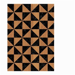 Triangle1 Black Marble & Light Maple Wood Small Garden Flag (two Sides) by trendistuff