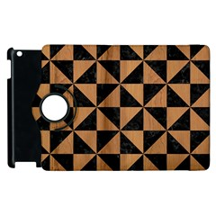 Triangle1 Black Marble & Light Maple Wood Apple Ipad 2 Flip 360 Case by trendistuff