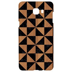 Triangle1 Black Marble & Light Maple Wood Samsung C9 Pro Hardshell Case  by trendistuff