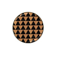 Triangle2 Black Marble & Light Maple Wood Hat Clip Ball Marker (10 Pack) by trendistuff