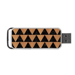 Triangle2 Black Marble & Light Maple Wood Portable Usb Flash (two Sides) by trendistuff