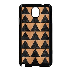 Triangle2 Black Marble & Light Maple Wood Samsung Galaxy Note 3 Neo Hardshell Case (black)