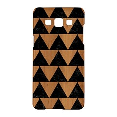 Triangle2 Black Marble & Light Maple Wood Samsung Galaxy A5 Hardshell Case  by trendistuff