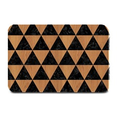 Triangle3 Black Marble & Light Maple Wood Plate Mats by trendistuff
