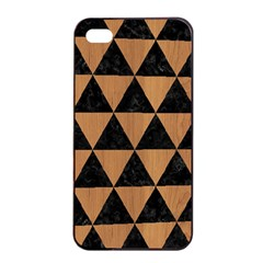 Triangle3 Black Marble & Light Maple Wood Apple Iphone 4/4s Seamless Case (black) by trendistuff