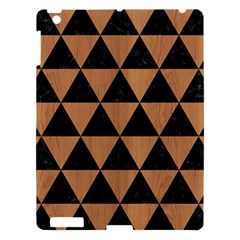Triangle3 Black Marble & Light Maple Wood Apple Ipad 3/4 Hardshell Case by trendistuff