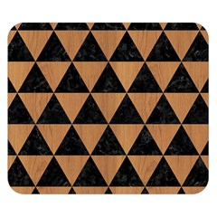 Triangle3 Black Marble & Light Maple Wood Double Sided Flano Blanket (small)  by trendistuff