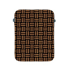 Woven1 Black Marble & Light Maple Wood Apple Ipad 2/3/4 Protective Soft Cases by trendistuff