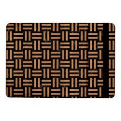 Woven1 Black Marble & Light Maple Wood Samsung Galaxy Tab Pro 10 1  Flip Case by trendistuff