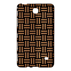 Woven1 Black Marble & Light Maple Wood Samsung Galaxy Tab 4 (7 ) Hardshell Case  by trendistuff
