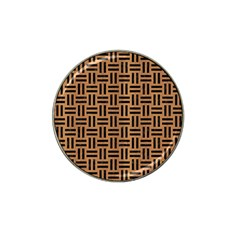 Woven1 Black Marble & Light Maple Wood (r) Hat Clip Ball Marker (10 Pack) by trendistuff