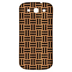 Woven1 Black Marble & Light Maple Wood (r) Samsung Galaxy S3 S Iii Classic Hardshell Back Case by trendistuff