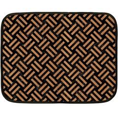 Woven2 Black Marble & Light Maple Wood Fleece Blanket (mini) by trendistuff