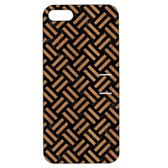 Woven2 Black Marble & Light Maple Wood Apple Iphone 5 Hardshell Case With Stand by trendistuff