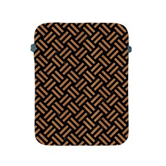 Woven2 Black Marble & Light Maple Wood Apple Ipad 2/3/4 Protective Soft Cases by trendistuff