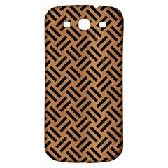 Woven2 Black Marble & Light Maple Wood (r) Samsung Galaxy S3 S Iii Classic Hardshell Back Case by trendistuff