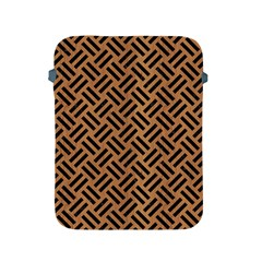 Woven2 Black Marble & Light Maple Wood (r) Apple Ipad 2/3/4 Protective Soft Cases by trendistuff
