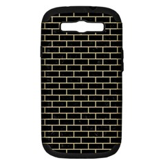 Brick1 Black Marble & Light Sand Samsung Galaxy S Iii Hardshell Case (pc+silicone) by trendistuff