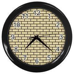 Brick1 Black Marble & Light Sand (r) Wall Clocks (black) by trendistuff