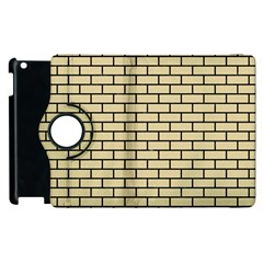 Brick1 Black Marble & Light Sand (r) Apple Ipad 3/4 Flip 360 Case by trendistuff