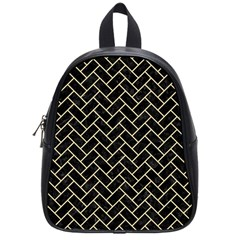 Brick2 Black Marble & Light Sand School Bag (small) by trendistuff