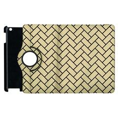 Brick2 Black Marble & Light Sand (r) Apple Ipad 3/4 Flip 360 Case by trendistuff