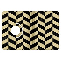 Chevron1 Black Marble & Light Sand Kindle Fire Hdx Flip 360 Case by trendistuff