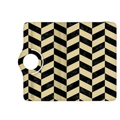 Chevron1 Black Marble & Light Sand Kindle Fire Hdx 8 9  Flip 360 Case by trendistuff