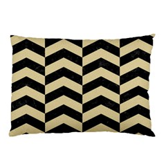 Chevron2 Black Marble & Light Sand Pillow Case by trendistuff