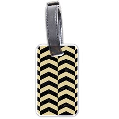 Chevron2 Black Marble & Light Sand Luggage Tags (one Side)  by trendistuff