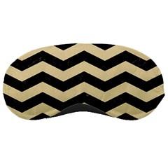 Chevron3 Black Marble & Light Sand Sleeping Masks by trendistuff
