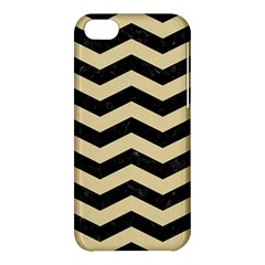 Chevron3 Black Marble & Light Sand Apple Iphone 5c Hardshell Case by trendistuff