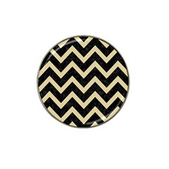 Chevron9 Black Marble & Light Sand Hat Clip Ball Marker (10 Pack) by trendistuff