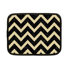 Chevron9 Black Marble & Light Sand Netbook Case (small)  by trendistuff