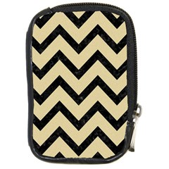 Chevron9 Black Marble & Light Sand (r) Compact Camera Cases by trendistuff